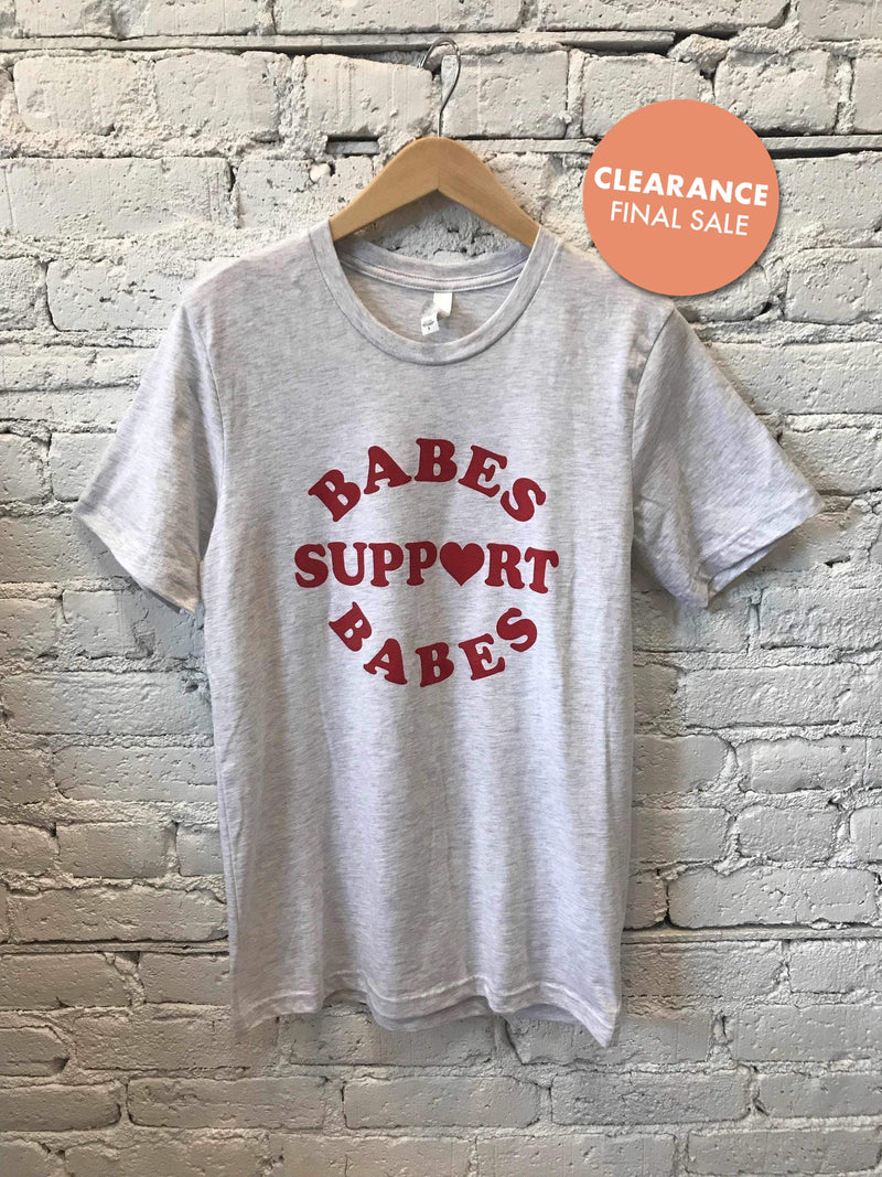 """Babes Support Babes"" Graphic T-shirt-Graphic Top-Yellow Umbrella"