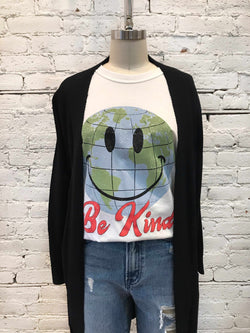 Be Kind Smiley Tee-T Shirt-Yellow Umbrella