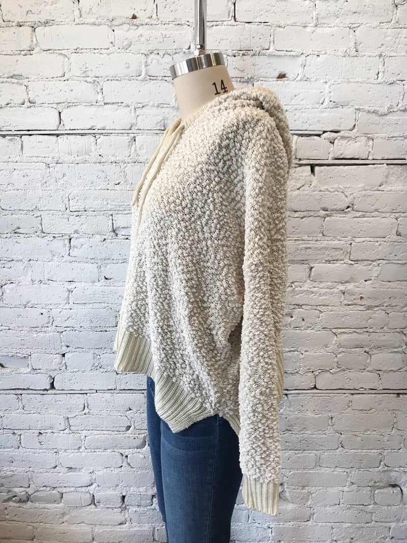 Beige Alpaca Hoodie - XL-Plus Size Sweater-Yellow Umbrella