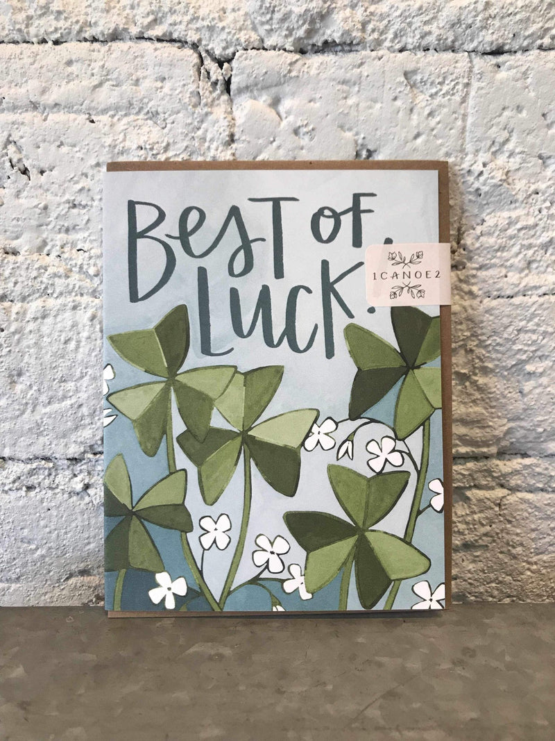 Best of Luck Clover Card-Card-Yellow Umbrella