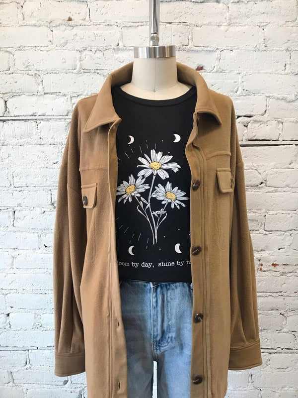 Bloom By Day, Shine By Night Graphic Tee-Graphic tee-Yellow Umbrella
