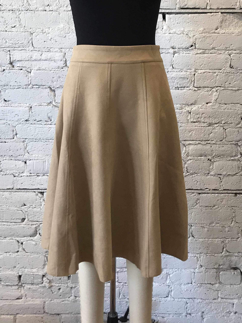 Camel Twill Goal Skirt-Skirt-Yellow Umbrella
