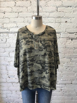 Camo Selina Tee-Tee-Yellow Umbrella