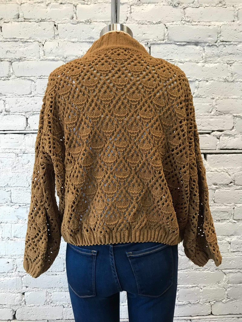 Caramel Mock Neck Sweater-Sweater-Yellow Umbrella
