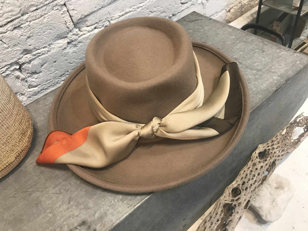 Carra Pecan Hat-Hat-Yellow Umbrella