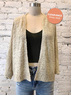 Cropped Boxy Cardi-cardigan-Yellow Umbrella