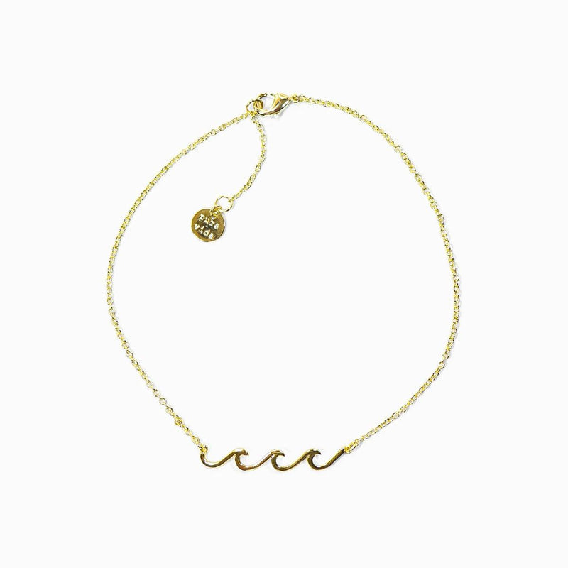 Gold Delicate Wave Anklet