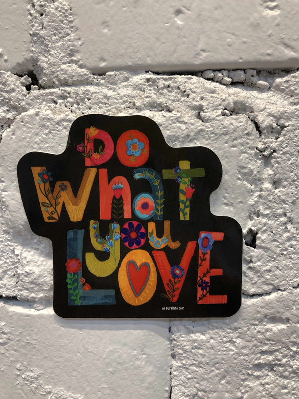 """Do what you love"" Sticker-sticker-Yellow Umbrella"