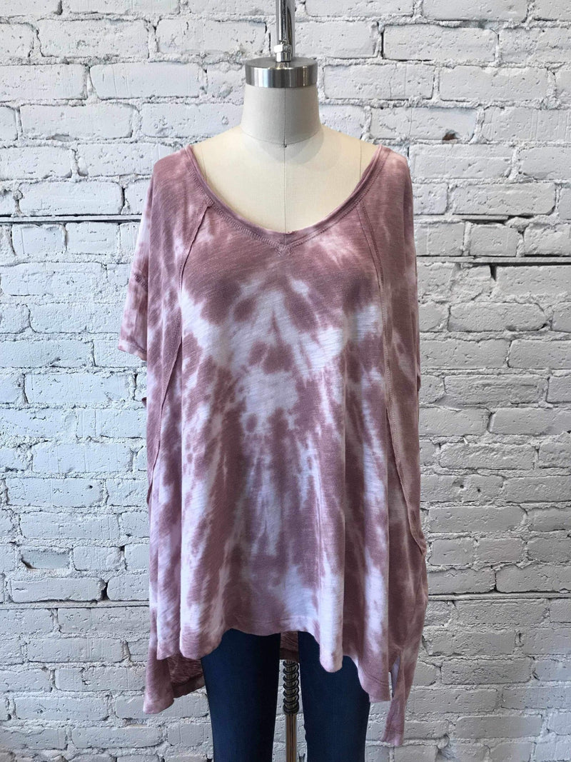 Dusty Mauve Tie-Dye Pocket Tunic-Tunic-Yellow Umbrella