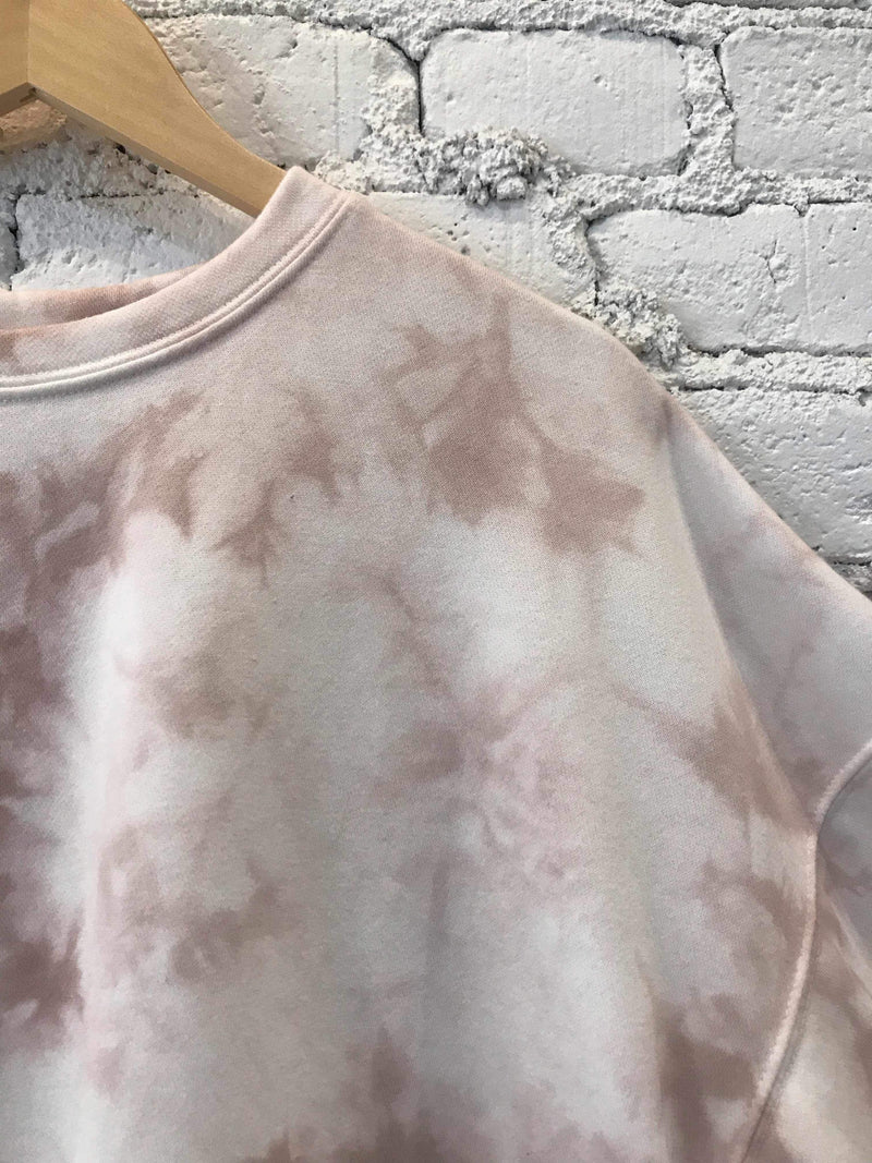Dusty Rose Tie-Dye Pullover-Sweater-Yellow Umbrella