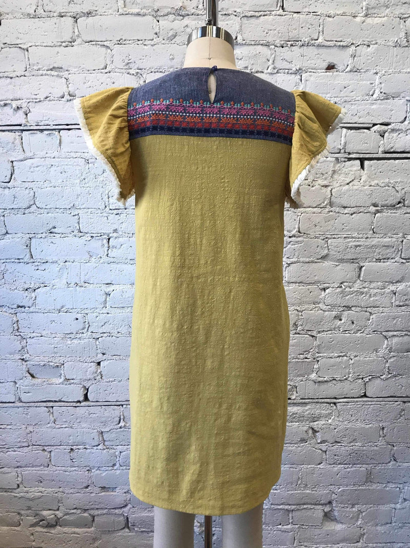 Embroidered Cleo Dress-Dress-Yellow Umbrella
