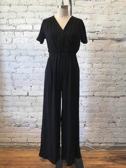 Fiona Knit Jumpsuit - Black-Jumpsuit-Yellow Umbrella