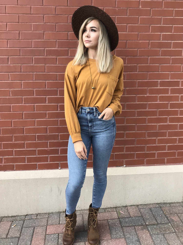 Free People Austin Long Sleeve-Long Sleeve-Yellow Umbrella