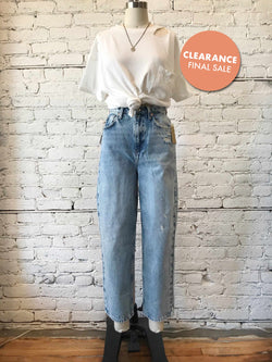 Free People Frank Dad Jean-jeans-Yellow Umbrella