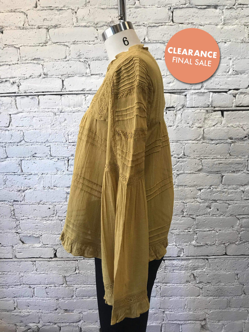 Free People Olivia Blouse-Top-Yellow Umbrella