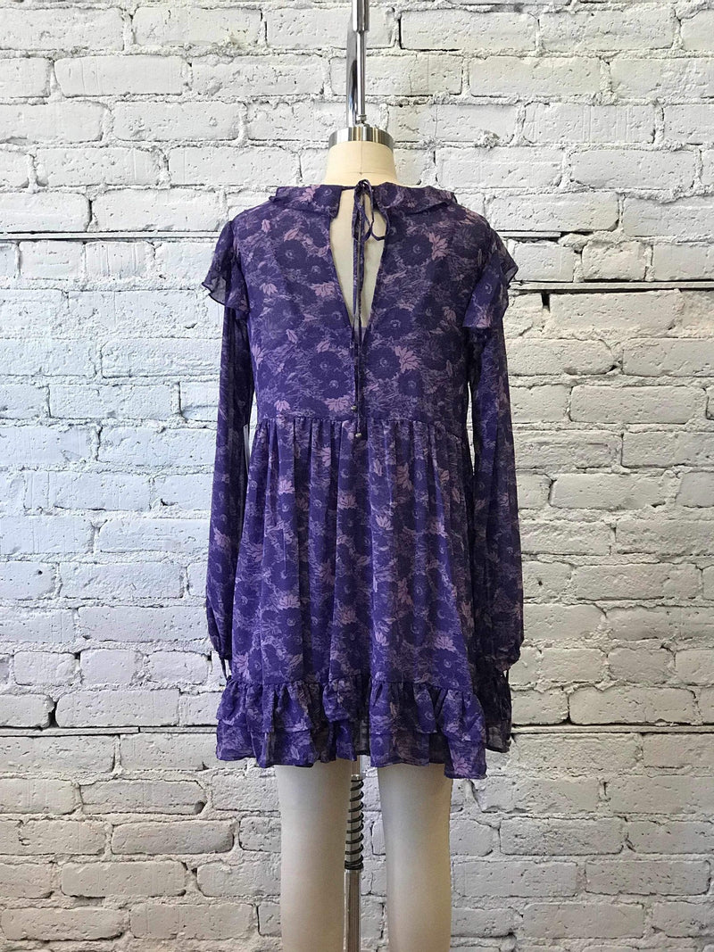 These Dreams Mini Dress - Violet-Yellow Umbrella