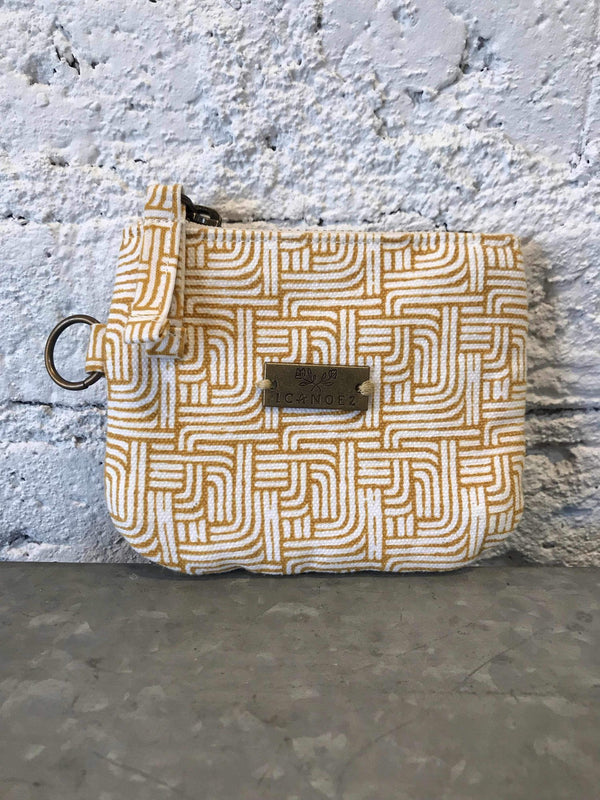Gold Stripe ID Wallet-Bag-Yellow Umbrella