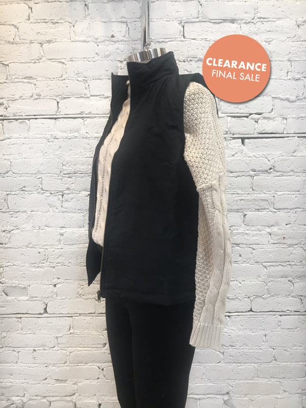 Chic Black Vest - Plus