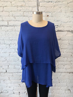 Cobalt Layered Tunic - Plus
