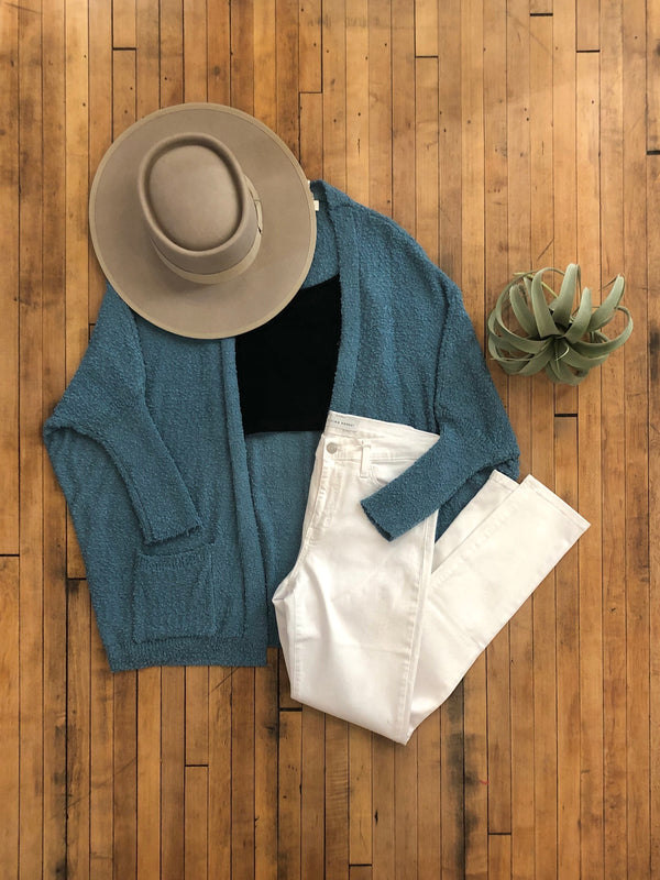 Dusty Mint Pocket Cardigan-Plus