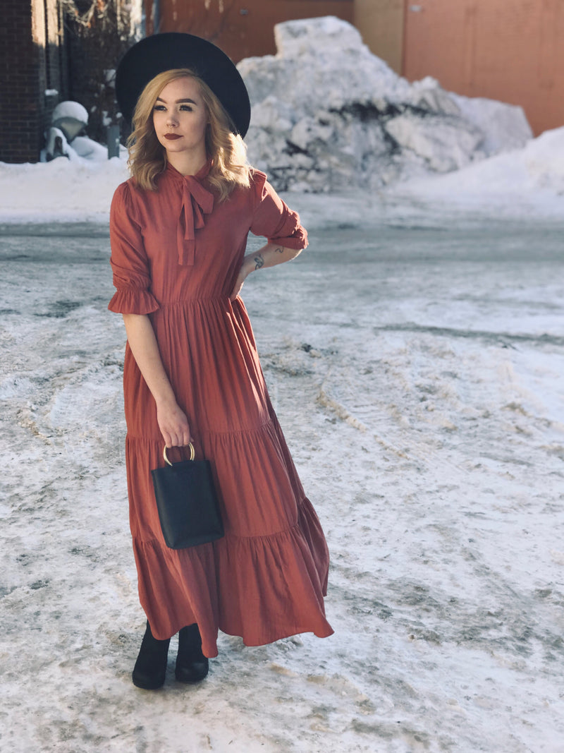 Rose Necktie Maxi Dress