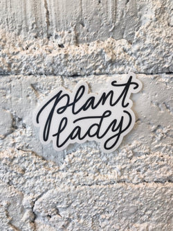 Plant Lady Script - Sticker