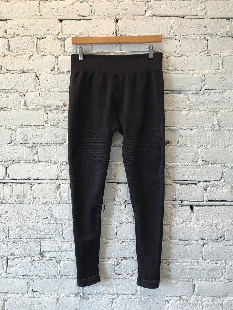 Vintage Black Moto Jeggings - XL