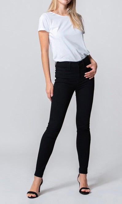 Hideaway High Rise Ankle Skinny- Black
