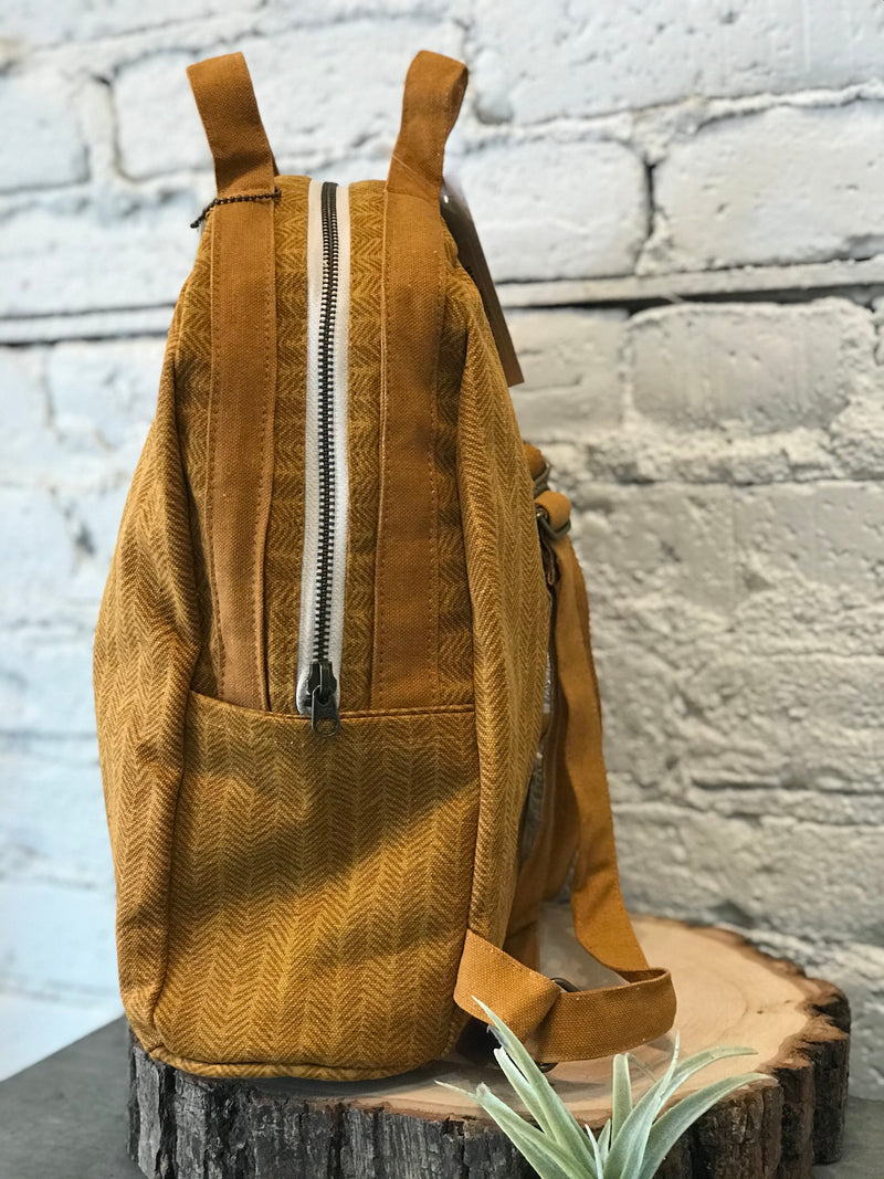 Sienna Herringbone Backpack