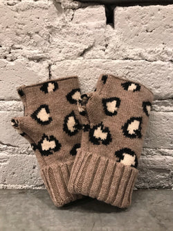 Leopard Fingerless Gloves