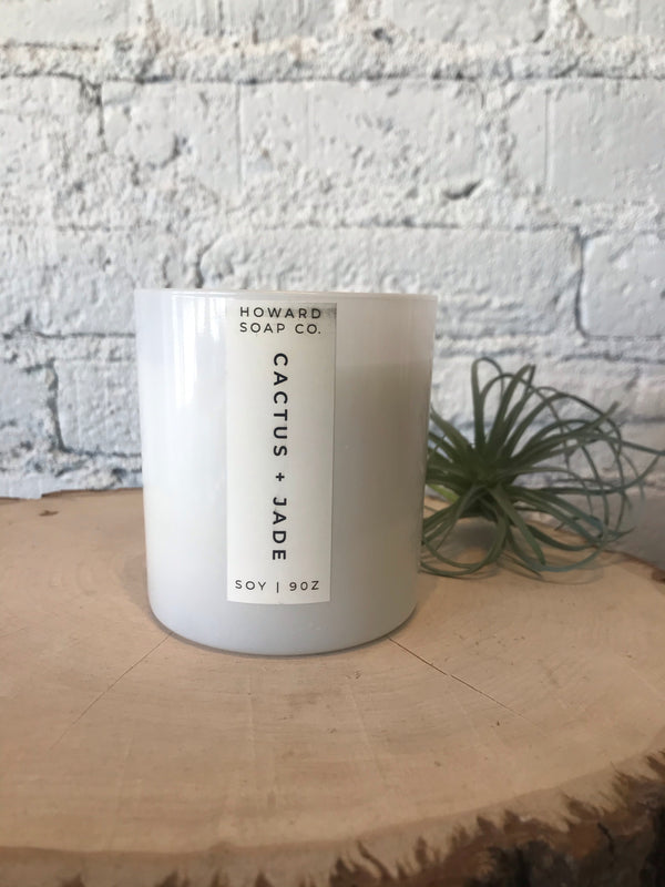 9oz Frosted Glass Candle