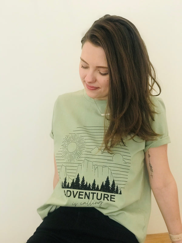 """Adventure Is Calling"" Graphic tee"