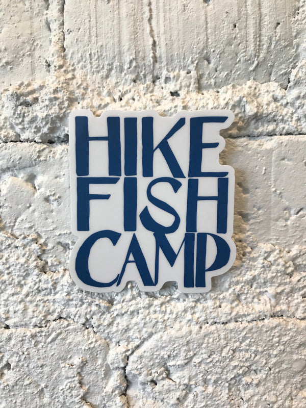 Hike Fish Camp - sticker