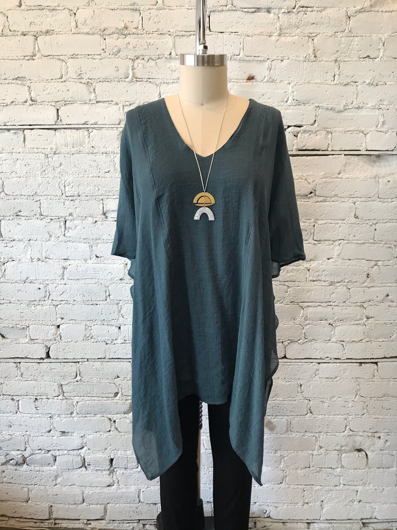 Seaweed V-Neck Kaftan - Plus