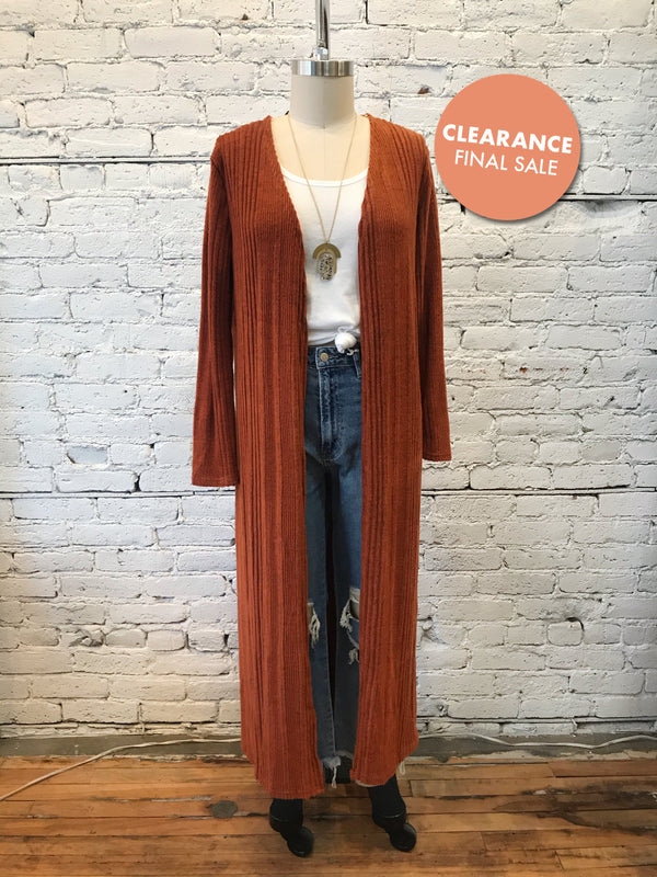 Ribbed Poppins Cardigan - Plus
