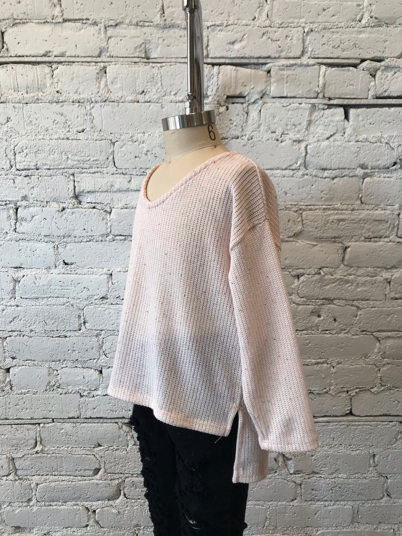 Light Peach Lightweight Sweater - Girls