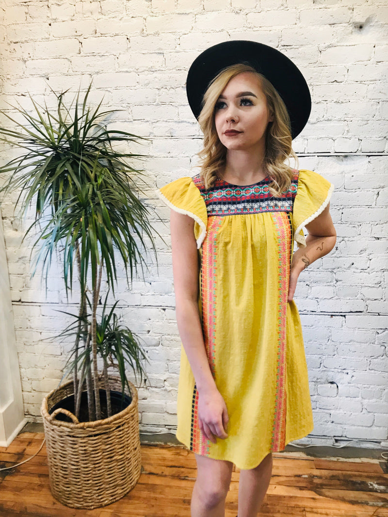 Embroidered Cleo Dress