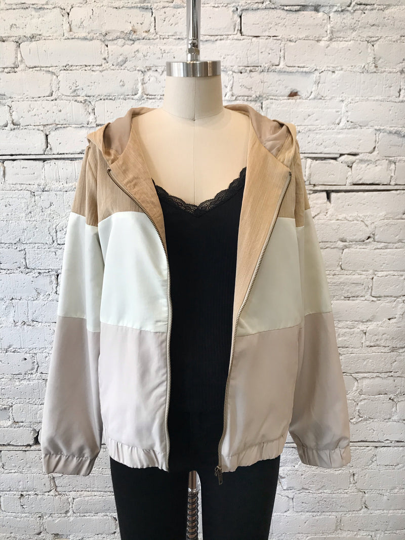 Color Block Zip Jacket