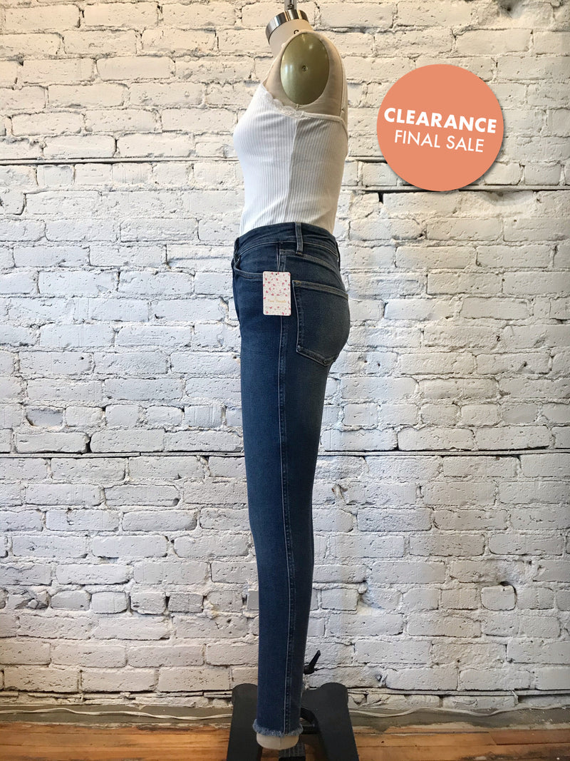 Free People Raw High Rise Jeggings- Blue