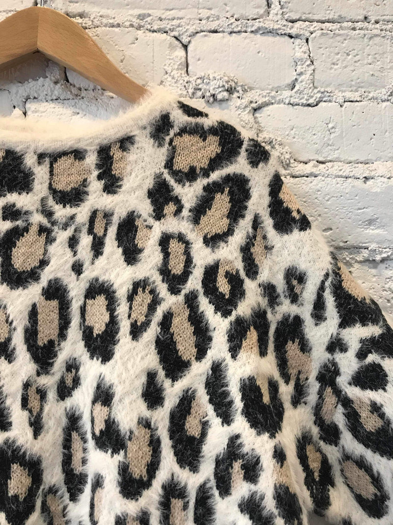 Ivory Leopard Mohair Sweater-Sweater-Yellow Umbrella
