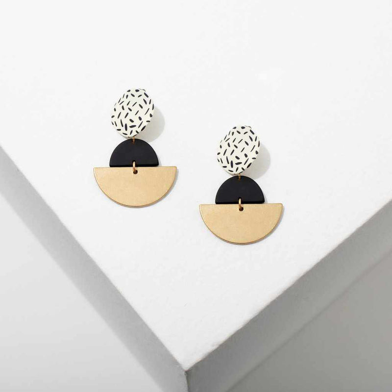 Kiki Earrings - White-Earrings-Yellow Umbrella