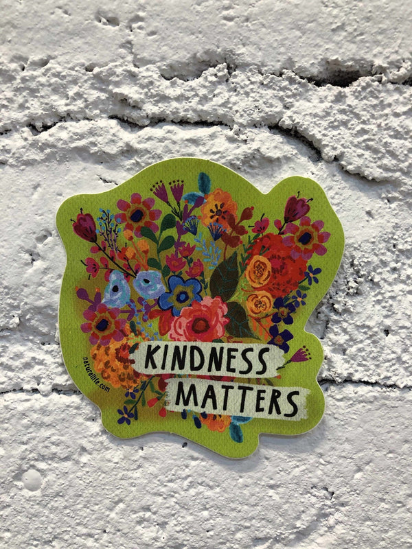 """Kindness Matters"" Sticker-sticker-Yellow Umbrella"