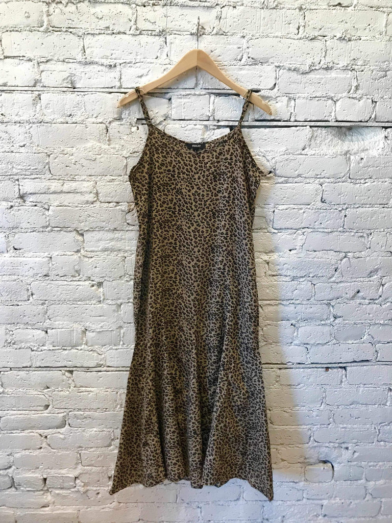 Leopard Flared Midi Dress-dress-Yellow Umbrella