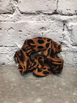 Leopard Print Scrunchie-Hair Accessories-Yellow Umbrella