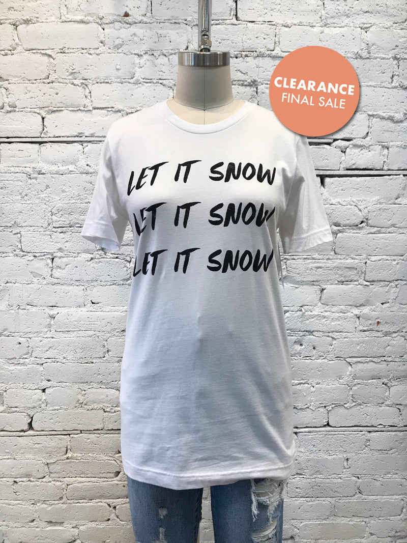 Let It Snow Tee-t-shirt-Yellow Umbrella