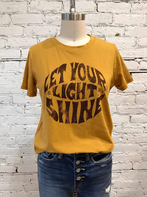 Let Your Light Shine Graphic Top-Top-Yellow Umbrella