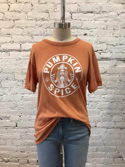 Logo Pumpkin Spice Tee-Tee-Yellow Umbrella