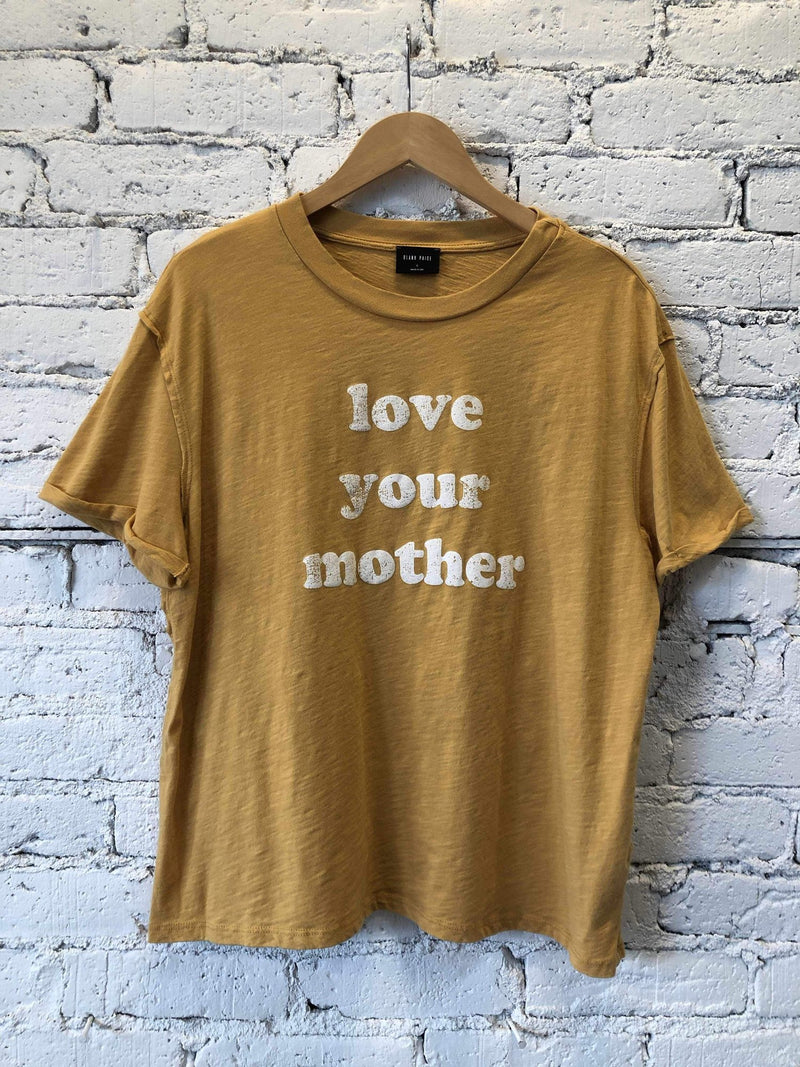 """Love Your Mother"" Graphic Tee-Graphic Top-Yellow Umbrella"
