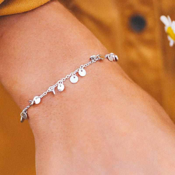 Mini Coin Anklet-Anklet-Yellow Umbrella