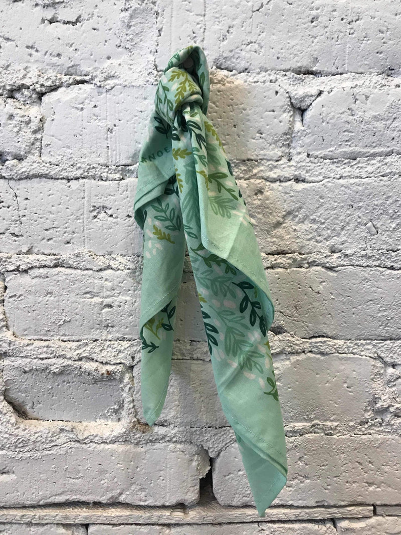Mint Meadow Bandana-Bandana-Yellow Umbrella